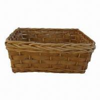 Buy cheap Bread Basket, Made of Willow and Wood Chip, Ideal for Foods and Fruits, Various Sizes are Available from wholesalers