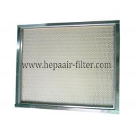 Buy cheap Polypropylene Mini Pleat HEPA Air Filter Media / Cleanroom Air Filter product