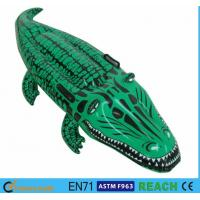 Realistic Inflatable Pool Floats Advertising Affection PVC Film Alligator Pool Float