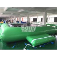 Buy cheap Green Inflatable Water Toys Water Trampoline For Floating Water Park Equipment from Wholesalers