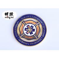 Buy cheap Silver Color Custom Challenge Coins / Cut Out Metal Souvenir Coins With Soft Enamel Logo product