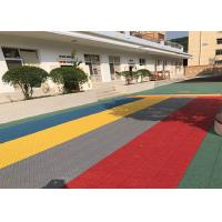 Buy cheap Safety Removable Multi Purpose Sports Flooring Shockproof Red Long Life from wholesalers