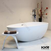 Buy cheap New Model Soaker Tub Resin Solid Surface Bathtub Commercial Hotel Use from wholesalers