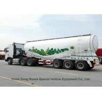Buy cheap Steel Bulk Cement Powder Tank Semi Trailer 3 Axle V Shape 66cbm With Air Compressor from wholesalers