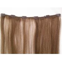 Buy cheap Pre - Bonded 4# clip in remy human hair extensions / Full Head Real Human Hair from wholesalers