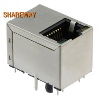 Buy cheap Through Hole Magnetic RJ45 Jack Vertical Type JXD3-0004NL With Shielded MI Finger product