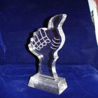 Buy cheap Custom Acrylic Award Trophy , Personalized Award Plaques For Employee product