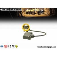 Buy cheap Yellow Water Proof Underground Led Miners Cap Lamp 376g 1.67W IP68 from wholesalers