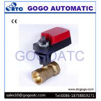 Buy cheap 3 Way L Flow Electric Proportional Ball Valve With Manual Override ADC24V CR02 3 wires from wholesalers