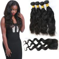 Buy cheap 4 Bundles Of Malaysian Virgin Hair Extensions Clean Weft Natural Appearance from wholesalers