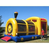 Buy cheap Hot Sale Inflatable Amusement Park, Inflatable Yellow Train Tunnel from wholesalers
