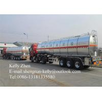 Buy cheap Carbon Steel 42000 Liters Tractor Trailer Tanker 13T FUWA / BPW / HUAJING from wholesalers
