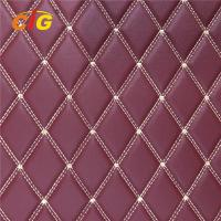 Buy cheap Fire Resistant Faux Leather Fabric / Artificial Leather Fabric PU / PVC Material product