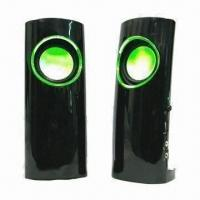 Buy cheap USB Speaker, Various Firefly Colors are Available, with High Level Rubber and High-glass Face Finish from wholesalers