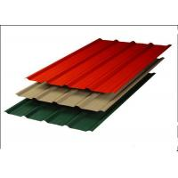 Buy cheap Aluminum Zinc Steel Corrugated Sheets , Red Corrugated Steel Roof Panel from wholesalers