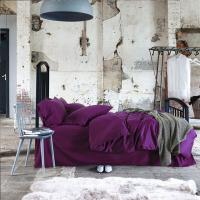 Buy cheap Eco - Friendly Long - Stapled Cotton Bedding Sets Purple With Customize Size from wholesalers