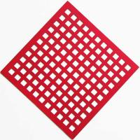 China Painting Stainless Perforated Steel Sheet Square Hole For Sunshades on sale