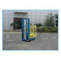 One Person Aluminum Mobile Elevating Working Platform Mast Type For Supermarket