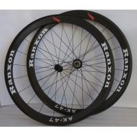 Buy cheap Black 47mm Tubular Carbon Fiber Road Bike Wheels 700c Front / Rear Wheel product