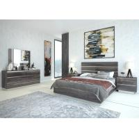 Buy cheap E1 Panel/ Wood Grain High Gloss Melamine/ Modern Furniture/ King Size Bed from wholesalers