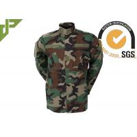Multi Camo Woodland Military Combat Uniform With Reinforced Internal Knee Pockets