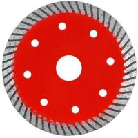 Buy cheap Durable Turbo Wave Diamond Tile Saw Blade With Cooling Hole Red Color from wholesalers