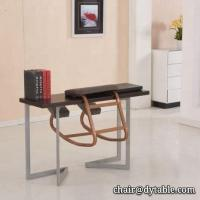 Buy cheap Dining Room Furniture stainless steel table and chair set Dining Table Designs With Metal Legs brown top 1 meter tall from wholesalers