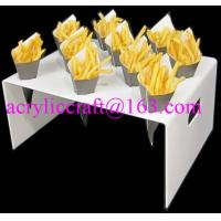 Buy cheap 10 holes table top customized manufacturing acrylic french fries cone holder from wholesalers