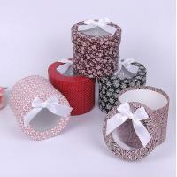 Buy cheap High-grade scarves round box flowers gift box packaging box from wholesalers