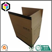 China Large Size Double Wall Corrugated Shipping Box; Black Color Logo Shipping Box on sale