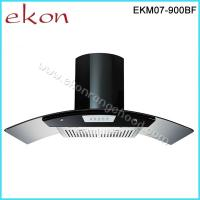 Buy cheap Hot Sales 90cm Black Stainless Steel Baffle Filters Push Button Kitchen Chimney Hood from wholesalers
