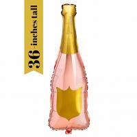 Buy cheap Foil Bottle Balloon Party Decorations , Rose Gold Engagement Party Decorations from wholesalers