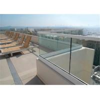 Buy cheap Glass Terrace Building Railing Commercial Glass Balustrade Aluminum U Channel Handrail Flooring Mounted from wholesalers
