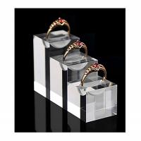 Buy cheap Durable Acrylic Jewelry Display , Modern Clear Glass Unique Ring Holder product