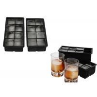 Personalized 2 Inch Large Silicone Ice Trays , 2 Sets 8 Cavity Flexible Ice Cube Trays