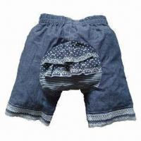 Buy cheap Children's Denim Short Jeans, Made of 100% Cotton, Garment Washed and Non-skid Design from wholesalers
