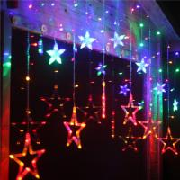Buy cheap Multicolor Star Moon 0.06w Ip44 Icicle Led String Light Decoration For Weddings from wholesalers