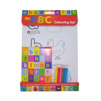 Buy cheap Educational Letters Colouring Set Wtih Pencils Learning Alphabet Stickers DIY Colorful from wholesalers