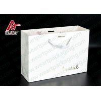 Buy cheap Simple Style Custom Printed Bakery Bags , Ribbon Handle Monogrammed Paper Bags from wholesalers
