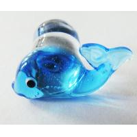 Buy cheap Dolphin Pyrex Body Belly Glass Piercing Jewelry With Handmade Plug Gauges from wholesalers