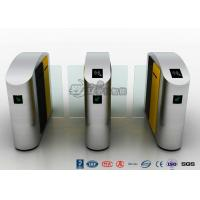 Buy cheap 304 Stainless Steel Flap Barrier Gate Sliding Waist Height Turnstiles With DC Brush Motor product