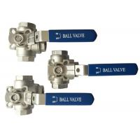 "Buy cheap 1/2"" to 2 Stainless Steel 304 316 flow Control T and L Type  3  way diverter ball valve from wholesalers"