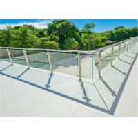 Buy cheap Round Post Stainless Steel Glass Railing For Real Estate Development Companies from wholesalers