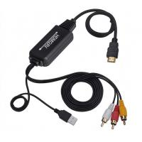 Buy cheap HDMI To RCA AV Converter Cable With USB Power Supply For Multimedia Use product