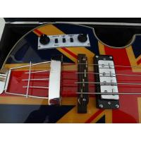 Buy cheap 4 string bass guitar Hofner BB2 guitar UK flag on flamed body top Hofner contemporary series from wholesalers