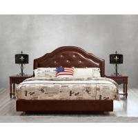 Buy cheap Leather / Fabric Upholstered Headboard Bed for Hotel Bedroom interior Furniture from wholesalers