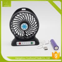 BS-5600 Battery Operated Mini Fan USB Cord Charging DC Small Plastic LED Table Fan