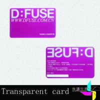 Buy cheap Hotel Magnetic Stripe Plastic Transparent Business Cards With Signature Panel from wholesalers