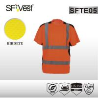 Buy cheap EN ISO 20471 Safety reflective t-shirt high vis polyester clothing with navy product