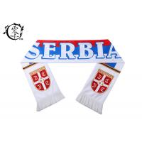 Buy cheap Warm Material Soccer Serbia Fringe Scarf, Woven Fleece World Cup Serbia Team Scarf from wholesalers